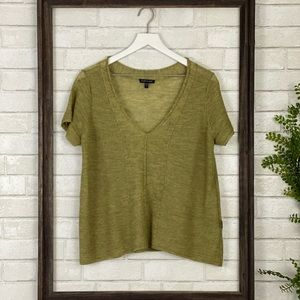 Eileen Fisher Top | Wool Short Sleeve Blouse